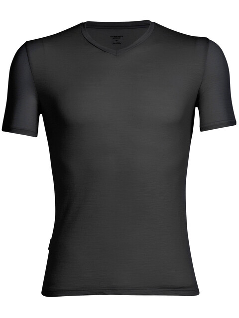 Icebreaker Anatomica SS V-Neck Shirt Men black/monsoon